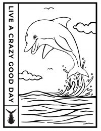 Tunaskin Coloring Sheet-Dolphin