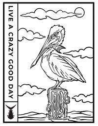 Tunaskin Coloring Sheet-Pelican