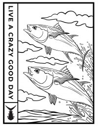 Tunaskin Coloring Sheet-Yellowfin Tuna